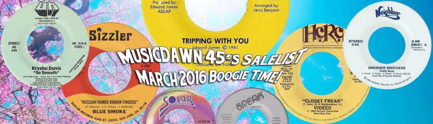 Musicdawn March 2016 Boogie Time! Salelist