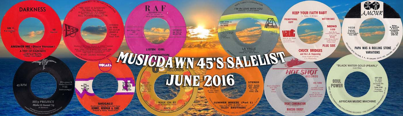 Musicdawn June 2016 45s Sale List